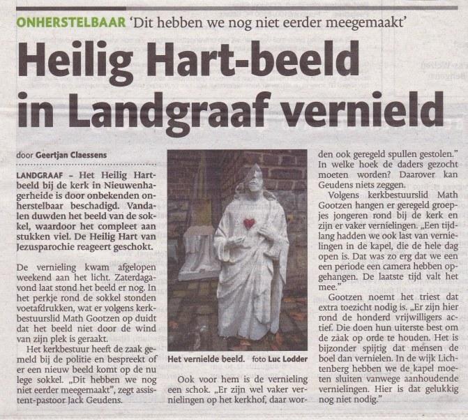 H Hart Beeld kerk Nieuwenhagerheide